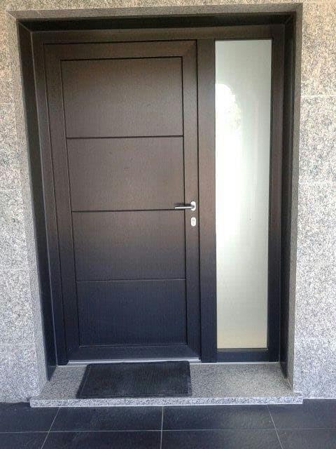 Puertas de entradas de casas ventana edificio casa - Puertas de seguridad para casas ...